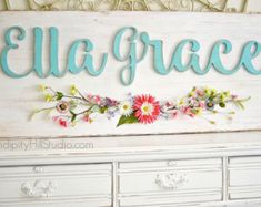XL SIZE distressed custom name sign with by SerendipityHillShop