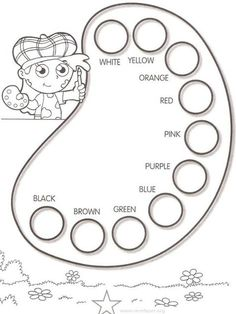 Printable Activities Learn Colors 14 is part of English activities - English Activities For Kids, English Lessons For Kids, Kids English, English Tea, Preschool Worksheets, Preschool Learning, In Kindergarten, Preschool Activities, English Primary School