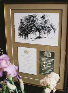 framed invitation + engraving plate | Virgil Bunao #wedding