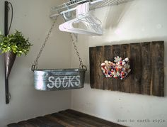 Down to Earth Style: Sock bin Features in the Laundry Room