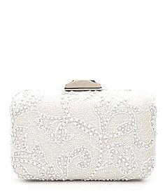 Tadashi Shoji Beaded Lace Clutch  Dillards Tadashi Shoji, Beaded Lace, Evening  Bags, c7bfb632cf