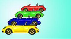 Маша Капуки Кануки красит машину! Учим цвета и смотрим мультик про машинки