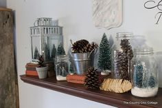 Using your Christmas Decor for Winter ~ * THE COUNTRY CHIC COTTAGE (DIY, Home Decor, Crafts, Farmhouse)