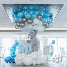 best selected creative baby shower themes 2019 - page 8 of 22 - hairstyles for women. Baby shower ideas for boys; Baby Shower Balloons, Baby Shower Games, Baby Boy Shower, Shower Party, Baby Shower Parties, Baby Showers, Teddy Bear Baby Shower, Boy Decor, Baby Shower Centerpieces
