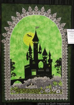 """Once Upon a Time, 41 x 57"""",  by Carol Bruce. 2014 AQS QuiltWeek (Phoenix).  Photo by Quilt Inspiration."""