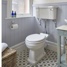 Traditional bathroom with loo