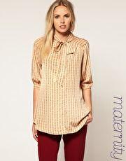 $32 chainprint blouse