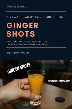 Remedies For Cough Ginger Shots. A vegan remedy for coughs, sore throat and general inflammation. Also a good kick before a workout. Cough Remedies, Homeopathic Remedies, Health Remedies, Home Remedies, Holistic Remedies, Natural Cold Remedies, Natural Remedies For Anxiety, Health Tips, Health And Wellness