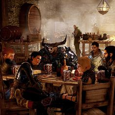 Dragon Age: Inquisition GUYS IS THIS AN IMITATION OF THE AVENGERS SHWARMA SCENE?!?!?!?