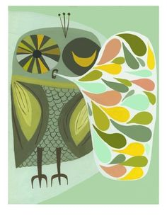 Open edition happy owl print by Matte Stephens Happy Owl, Whimsical Owl, Renegade Craft Fair, Owl Fabric, Owl Always Love You, Wise Owl, Owl Print, The Design Files, Affordable Art