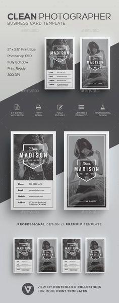 Modern Photographer Business Card Template PSD Download Here - Photography business card template photoshop