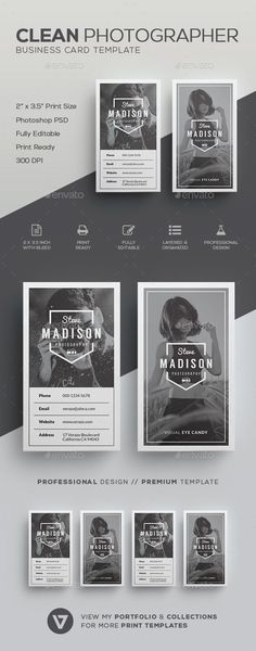Clean Photographer Business Card Template - Industry Specific #Business #Cards Download here: https://graphicriver.net/item/clean-photographer-business-card-template/19628168?ref=alena994