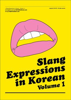Learn Korean - SLANG EXPRESSIONS IN KOREAN (Click on the photo to study!)