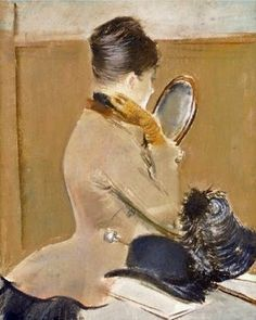 At the Milliner  Jean-Louis Forain  (French painter, 1852-1931)