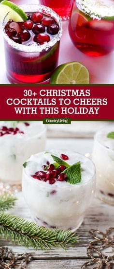 These Beautiful Christmas Cocktails Will Get Everyone in the Holiday Spirit. 30 Easy Christmas Cocktails - Best Recipes for Christmas Alcoholic Drinks. Wash down your cookies with these delicious drinks. Drinks Alcohol Recipes, Yummy Drinks, Cocktail Recipes, Best Drinks, Fun Drinks, Drink Recipes, Alcohol Mixers, Christmas Drinks Alcohol, Holiday Cocktails