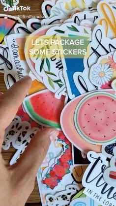 How To Make Stickers, Homemade Stickers, Diy Stickers, Making Stickers, Packaging Stickers, Sticker Shop, Sticker Vinyl, Budget Planner, Sticker Designs