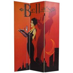 6 ft. Tall Double Sided Mannequin and Singer Canvas Room Divider - OrientalFurniture.com