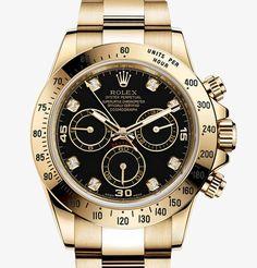 勞力士 (Rolex) [NEW] Daytona Yellow Gold 116528 Black Diamond at HK$197,000.  We Also Have Hong Kong Rolex Boutique 888 Stock [香港行貨] For Sale at HK$220,000.