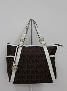 MICHAEL Michael Kors Whipped Large Zip-top Monogram Tote with Coffee Leather
