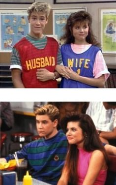 Zac Morris and Kelly kapowski saved by the bell
