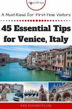Pin Me - 45 Essential Tips for Venice, Italy - A Must-Read for First-Time Visitors - rossiwrites.com Travel Advise, Ways To Travel, Travel Articles, Travel With Kids, Us Travel, Family Travel, Italy Travel Tips, Travel Destinations, Travel Images