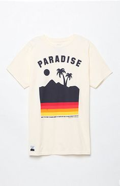 The men's Paradiso T-Shirt by Neff offers a crew neckline and graphic on the…