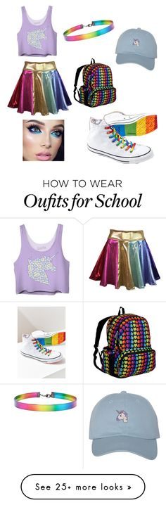 """Untitled #8"" by arianalt on Polyvore featuring Converse, Wildkin and Forever 21"