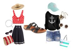I never thought I'd be on a boat with Maddie! by bearpawstyle on Polyvore featuring Forever 21, Charlotte Olympia, Bling Jewelry, J.Crew, Wildfox, Dolce&Gabbana and Bearpaw