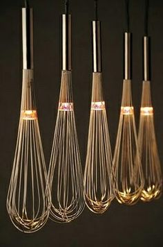 .cool idea for kitchen lighting