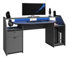 Corner Gaming Desk, Set Up Gamer, Music Desk, Music Recording Studio, Led Band, Set Game, Recorder Music, Computer, Office Desk
