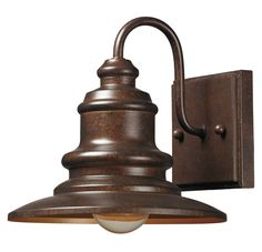 ELK Lighting 47010/1 Marina 1-Light Outdoor Wall Sconce, Hazelnut Bronze