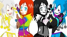 I don't think candy pop and L.J are good together but Jason and candy pop are – Candy Cane Jack Y Jill, Pop Goes The Weasel, Creepypasta Cute, Creepy Pasta Family, Laughing Jack, Candy Pop, Kawaii Chibi, Balloon Animals, Scary Stories
