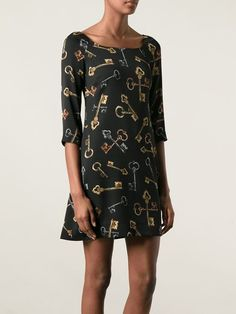 Women - Dolce & Gabbana Medieval Keys Print Dress - Tessabit.com – Luxury Fashion For Men and Women: Shipping Worldwide
