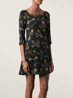 Women - Dolce & Gabbana Medieval Keys Print Dress - Tessabit.com – Luxury Fashion For Men and Women: Shipping Worldwide