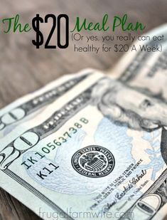 $20 Meal Plan. Yes, you really can feed yourself on a $20 budget! This article is complete with shopping list and meal plan.