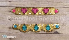 Shimmer and Shine Inspired Bracelets by CangialosiSpecialty