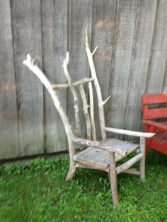 Love making driftwood furniture