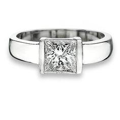 1.3ct Princess cut diamond for $2,605 on diamondhedge.com today!  Princess cut diamond in tension setting