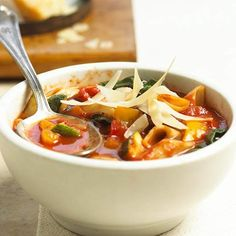 This classic Minestrone Soup is great by itself or with our Chicken Panini. More minestrone recipes: http://www.bhg.com/recipes/soup/soup/minestrone-made-easy/?socsrc=bhgpin091813classicminestrone#page=2