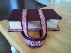 My Bible Cover. One iron burn and two pin pokes later... =)