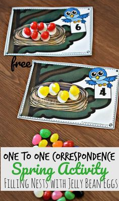 FREE One to One Correspondence Spring Activity for kids - this fun, hands on math activity for preschoolers, toddler, and kindergarten age kids make it fun to learn about math Counting Activities For Preschoolers, Spring Activities, Kindergarten Activities, Preschool Activities, Kindergarten Age, Spring Theme For Preschool, Spring For Preschoolers, Number Activities, Educational Activities