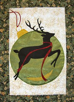 "Christmas Reindeer, 23-1/2 x 33"",  by June Jaeger"