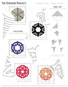 Omiyage Blogs: Free Printable Kirigami Template - Halloween Theme