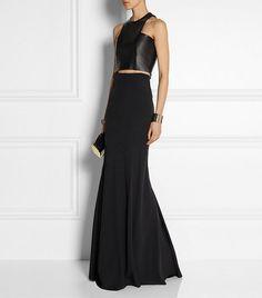 Balmain Crepe Maxi Skirt // black maxi skirt