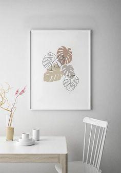 Boho botanical line drawing art print