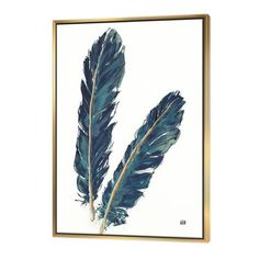 Shop for Designart 'Gold Indigo Feathers IV' Modern Bohemian Framed Canvas - Grey. Get free delivery On EVERYTHING* Overstock - Your Online Art Gallery Store! Framed Canvas Prints, Canvas Artwork, Artwork Prints, Framed Wall Art, Canvas Frame, Painting Prints, Wall Décor, Indigo Prints, Thing 1