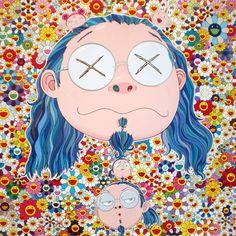 Self-Portait of the Distressed Artist - offset lithograph (2009)  Takashi Murakami