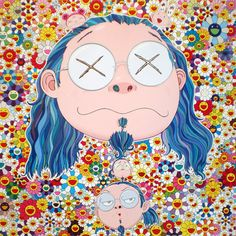 Self-Portait of the Distressed Artist - offset lithograph (2009)  Takashi Murakami