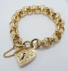HUGE HEAVY 9CT YELLOW GOLD WIDE BELCHER STYLE BRACELET WITH VALUATION $5210