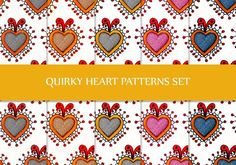 This delightful set of 8 hand-painted hearts patterns on a subtle paper texture. These are high-res, seamless hearts patterns! Free Photoshop Patterns, Heart Patterns, Free Design, Paper Texture, Free Pattern, Hearts, Hand Painted, Ps, Painting